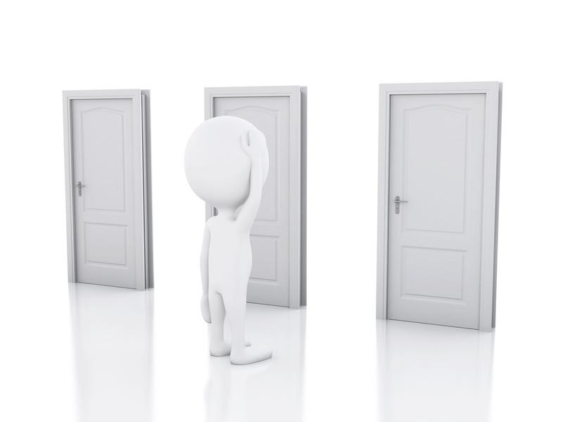 personnage - 3 portes